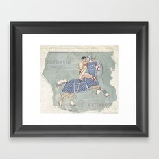 Centaurus and Retiarius Framed Art Print
