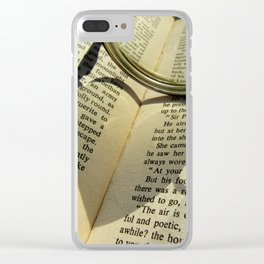 Love to read a book Clear iPhone Case