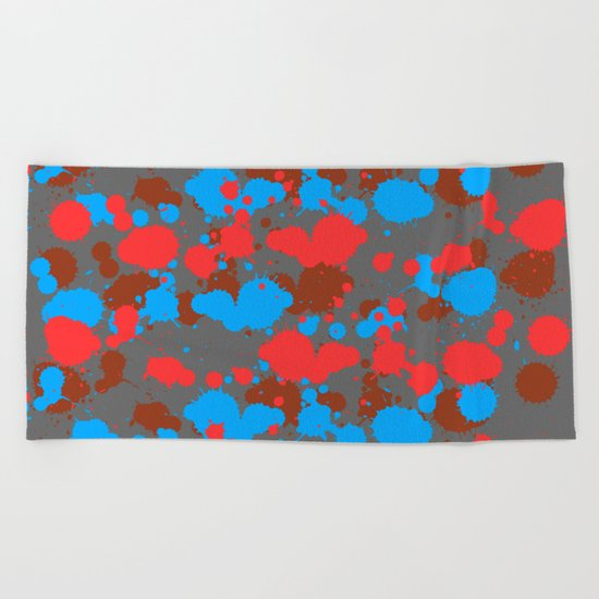color dripping Beach Towel