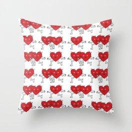 Heart-meow / Illustration / Pattern Throw Pillow