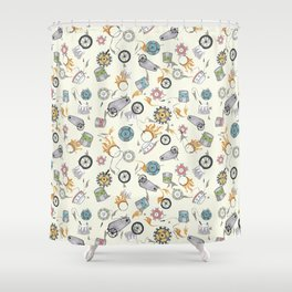 Lion tamer Shower Curtain