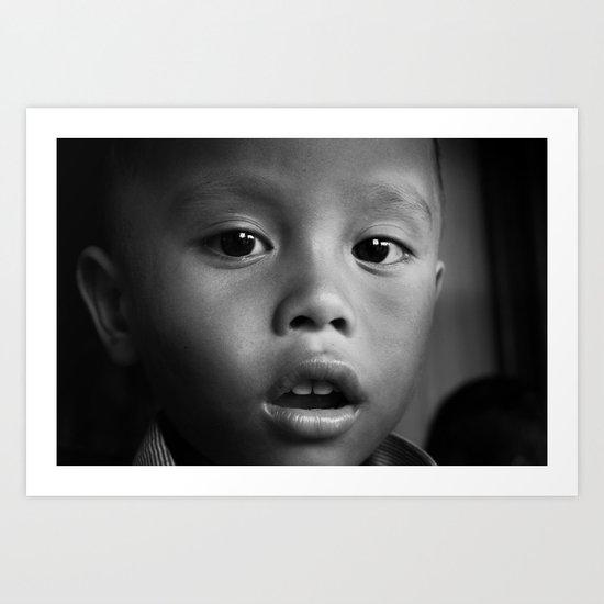Cambodian Kid Art Print
