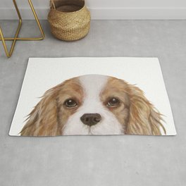 Cavalier King Charles Spaniel Dog illustration original painting print Rug