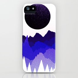 Glitter mountains iPhone Case