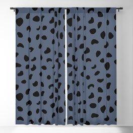 Leopard Print - Dark Blue Blackout Curtain