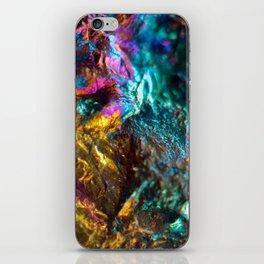 Rainbow Oil Slick Crystal Rock iPhone Skin