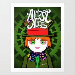 THE HATTER MAD / Almost Alice - Tim Barton - Wonderland / digital ilustration - wall decor - pop art Art Print