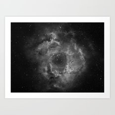 Stars and Space Dust B&W Art Print