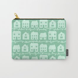 Cottage Charm in Peppermint Green Carry-All Pouch