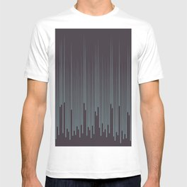 Blue-Green Purple Frequency Line Art Pattern 2021 Color of the Year Aegean Teal and Tulsa Twilight T-shirt