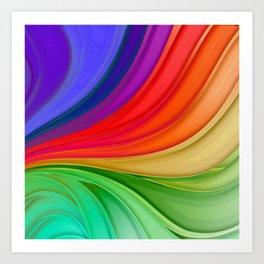 Abstract Rainbow Background Art Print