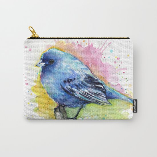 Blue Bird Indigo Bunting Colorful Animals Carry-All Pouch