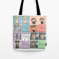 cyrilliart Tote Bags featuring That's the punchline by Cyrilliart
