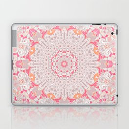BOHO SUMMER JOURNEY MANDALA - PASTEL ROSE PINK Laptop & iPad Skin