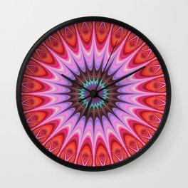 Quadrant mandala Wall Clock