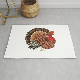 Cartoon turkey Rug
