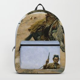 Frederic Remington - The Flight - Digital Remastered Edition Backpack