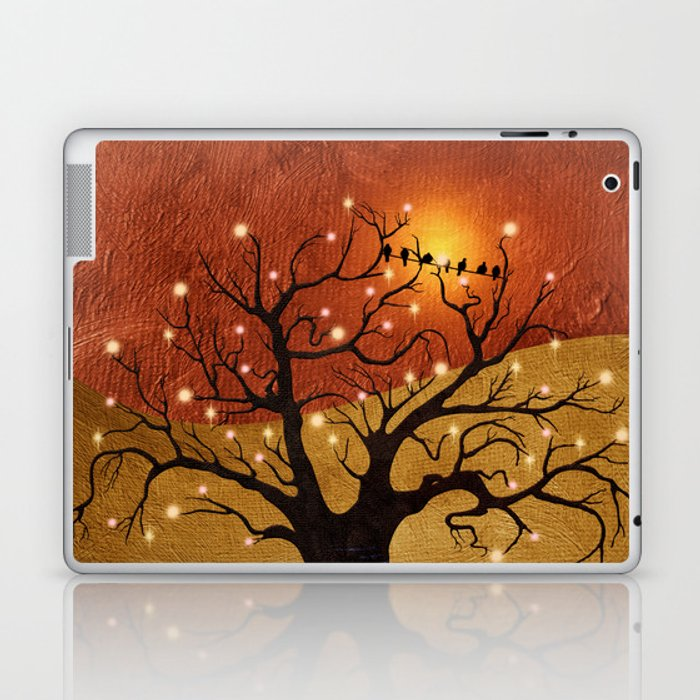 sunset and lights Laptop & iPad Skin