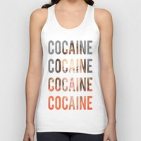 cocaine Tank Tops featuring LINDSAY LOHAN - COCAINE by Beauty Killer Art