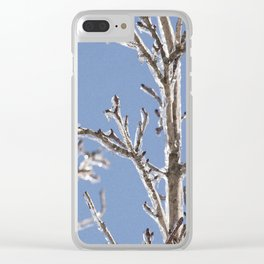 Ice in the Trees Clear iPhone Case