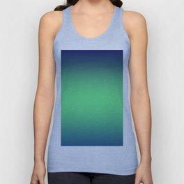 Blue, green gradient. Ombre. Unisex Tank Top