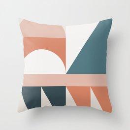 Cirque 03 Abstract Geometric Throw Pillow