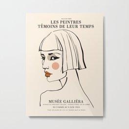 Exibition poster-Les Peintres Témoins de leur temps-1955. Metal Print