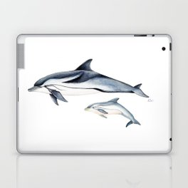 Striped dolphin Laptop & iPad Skin