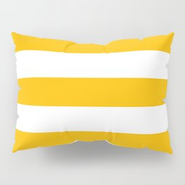 Microsoft yellow - solid color - white stripes pattern Pillow Sham