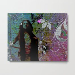 """Hippie Blue"" Metal Print"
