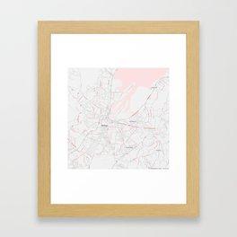 Minimalist Modern Map of Belfast, North Ireland 3 Framed Art Print