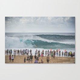 Massive wave at Banzai Pipeline, Northshore Oahu, Hawaii Canvas Print