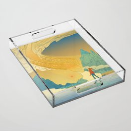 Golden Staircase Acrylic Tray