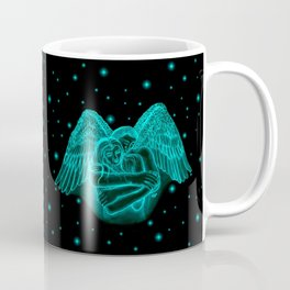 Amor , Eros - Angel and Woman in Love Coffee Mug
