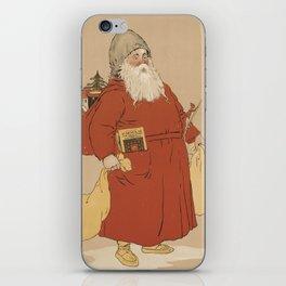 Vintage Saint Nicholas Illustration (1895) iPhone Skin