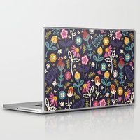 yetiland Laptop & iPad Skins featuring Ditsy Flowers by Poppy & Red