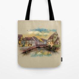 panorama city of Colmar France Tote Bag