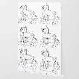 Unicorn Twins Wallpaper