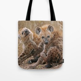 Young hyenas, Africa wildlife Tote Bag