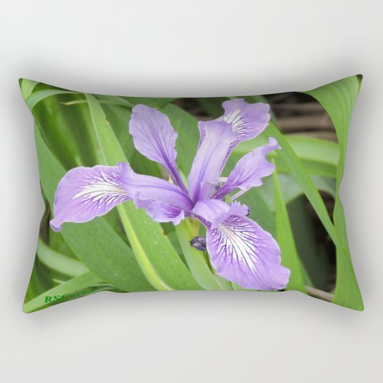 Pale Iris Rectangular Pillow