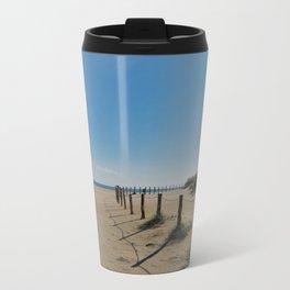 a beautiful day at the beach Travel Mug
