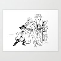 shrek Art Prints featuring OPC Bastille by Other People's Characters