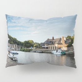 The habour of the city of Dinan Pillow Sham