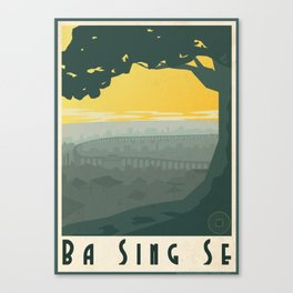 Ba Sing Se Travel Poster Canvas Print