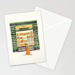 Hungry dog at Paul Boulangerie, Paris Stationery Cards
