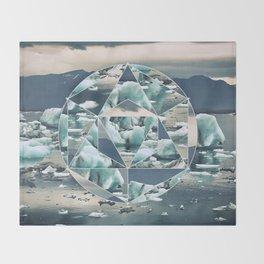 Geometric Icebergs Abstract Throw Blanket