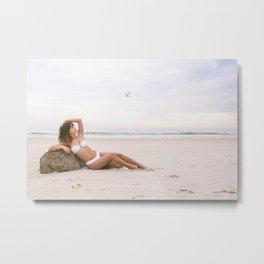 Babe on a Beach Metal Print