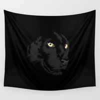 panther Wall Tapestries featuring Panther by CranioDsgn