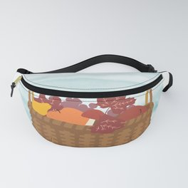 Picnic basket filled with fruits Fanny Pack
