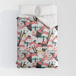 Kawaii Sushi Crowd Comforters